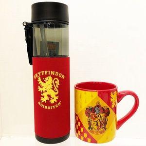 Harry Potter Gryffindor Water Bottle & Coffee Mug